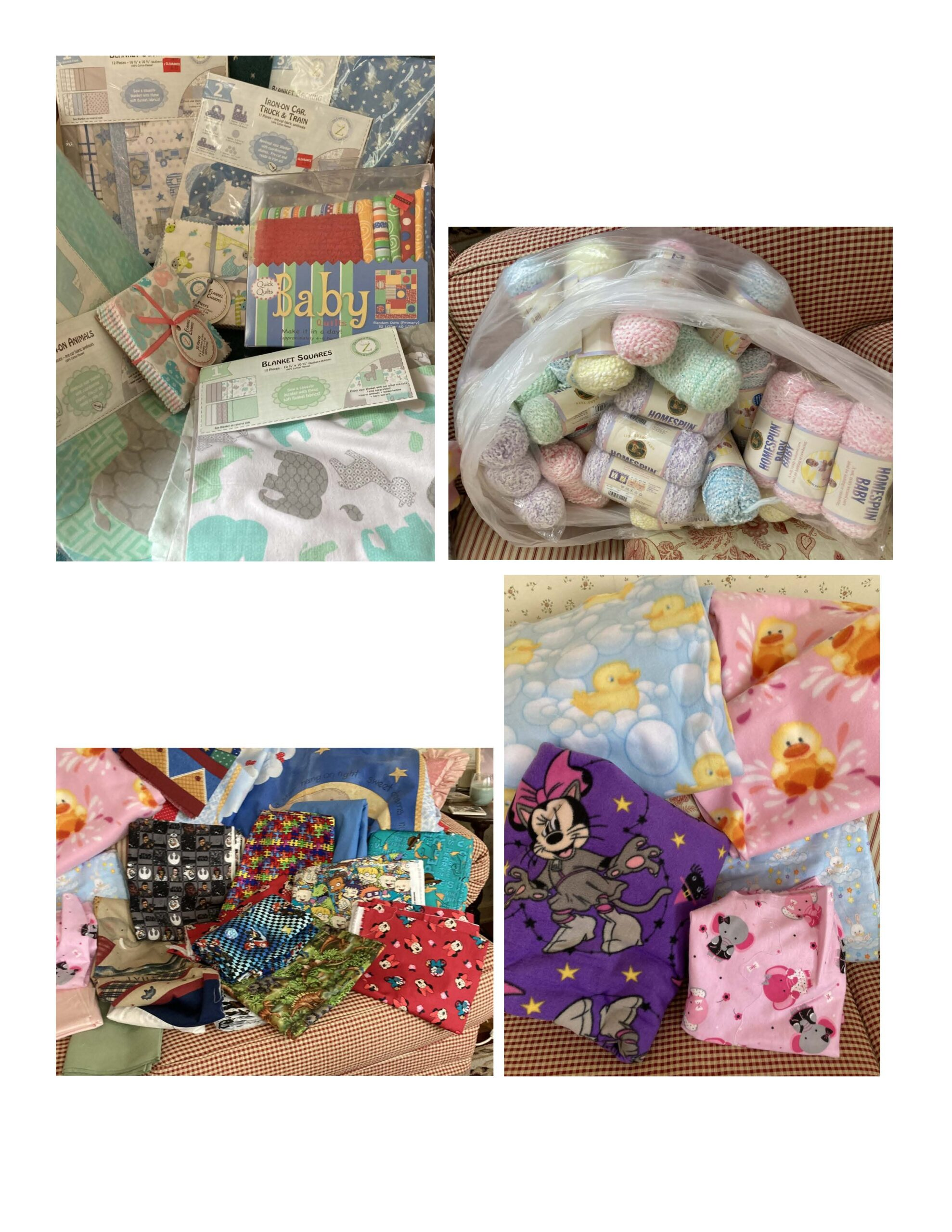 items donated by Sew Biz and Joanne's