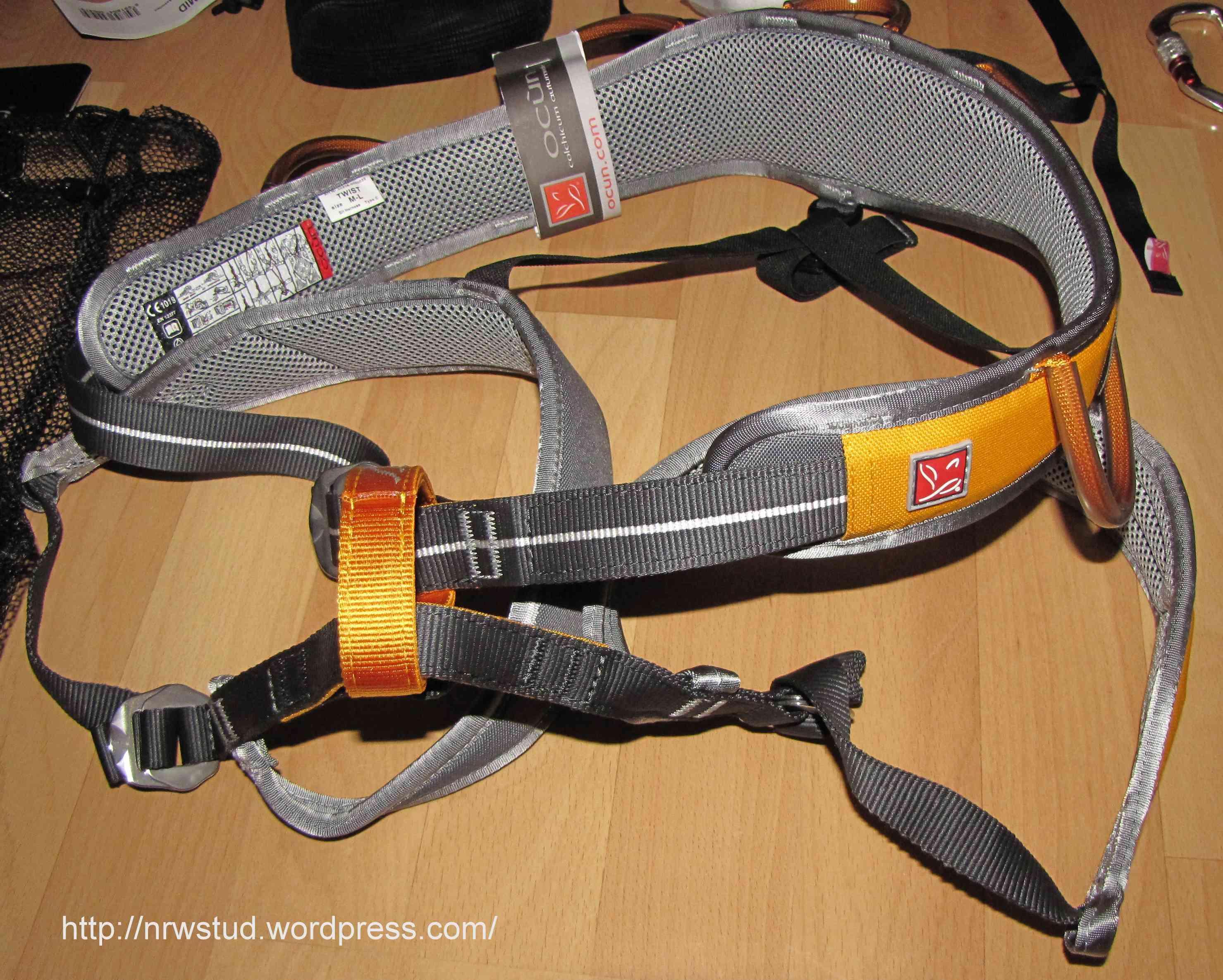 Petzl Klettergurt Corax Test : Ocùn u2013 twist klettergurt nrwstuds outdoorblog trekkinggear.de