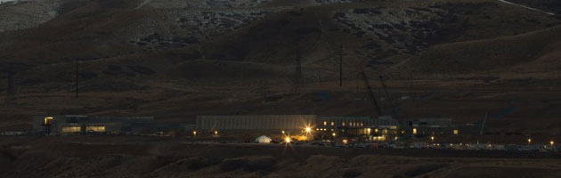 night view of NSA Utah data center