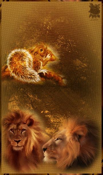 la ardilla y el leon