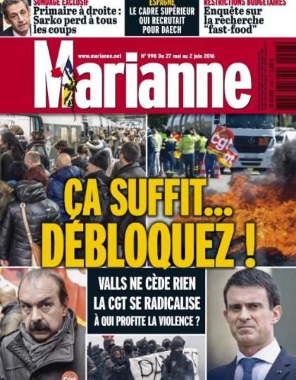 Marianne N°998 du 27 Mai au 2 Juin 2016