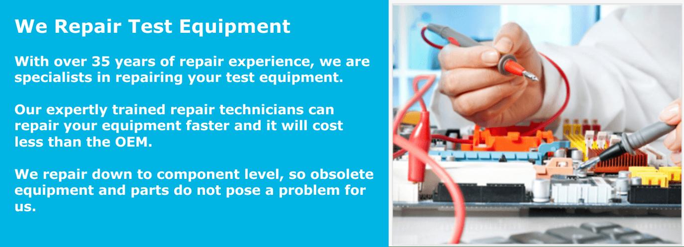 We Repair Test Equipment