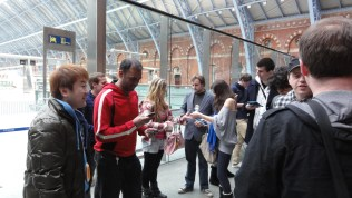 London St Pancras 3DS StreetPass Event with Yoshinori Ono (17)