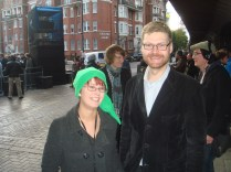 Orla after being interviewed in 3D for Nintendo Europe