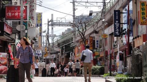 The View Southward from Yamashiroya by Ueno Station, down to Ameyayokocho Market