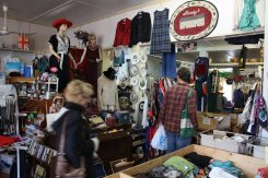 Monty's in Pugwash is a treasure-hunter's delight. From the largest conceivable knitting needles (19 mm) to vintage cookware to used clothing, you'll find it here.