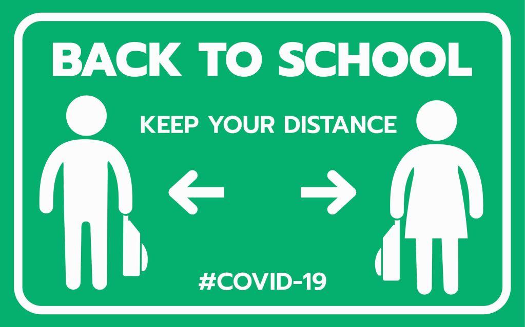 social distancing in schools sign