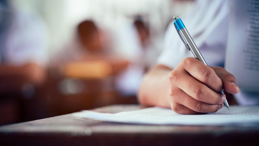 school pupil sitting an exam