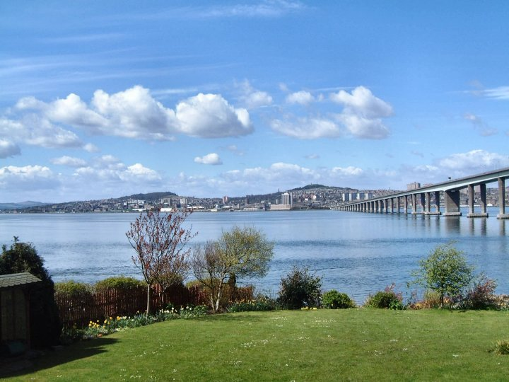view of Dundee from Newport on Tay