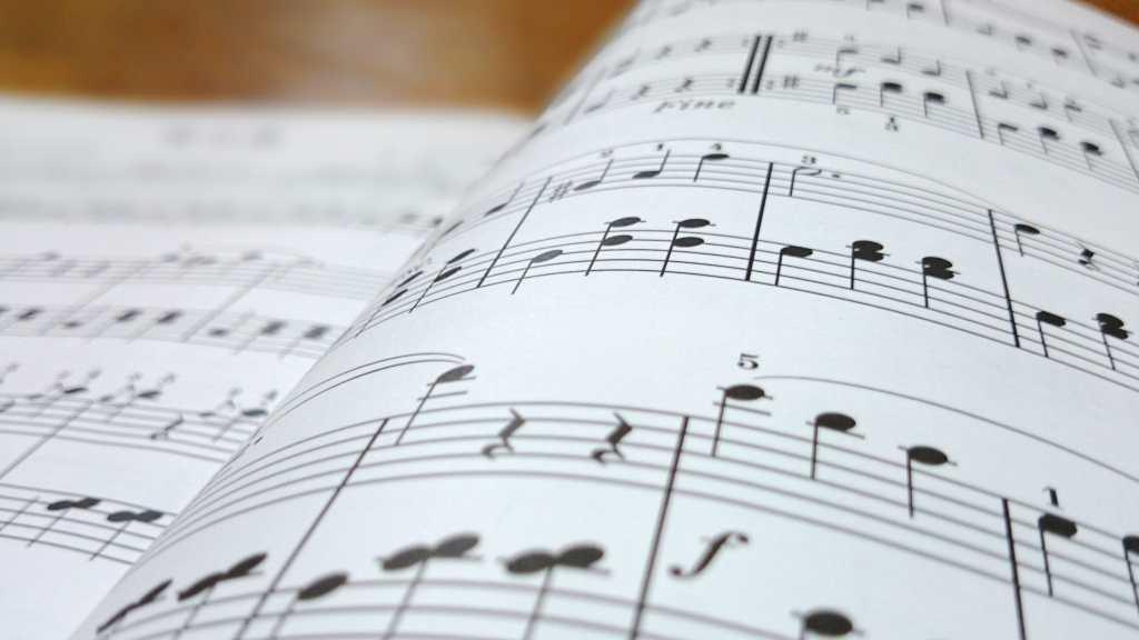 sheet music illustration