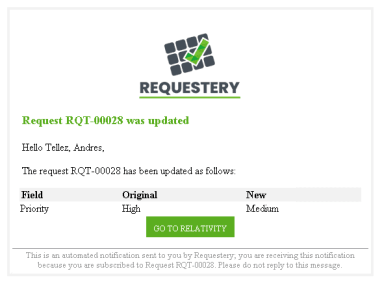 3. Mail notification - Edit request