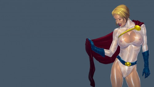 power girl is wet