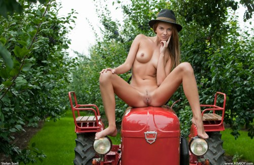 red tractor nudity