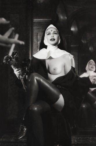 flashing nun