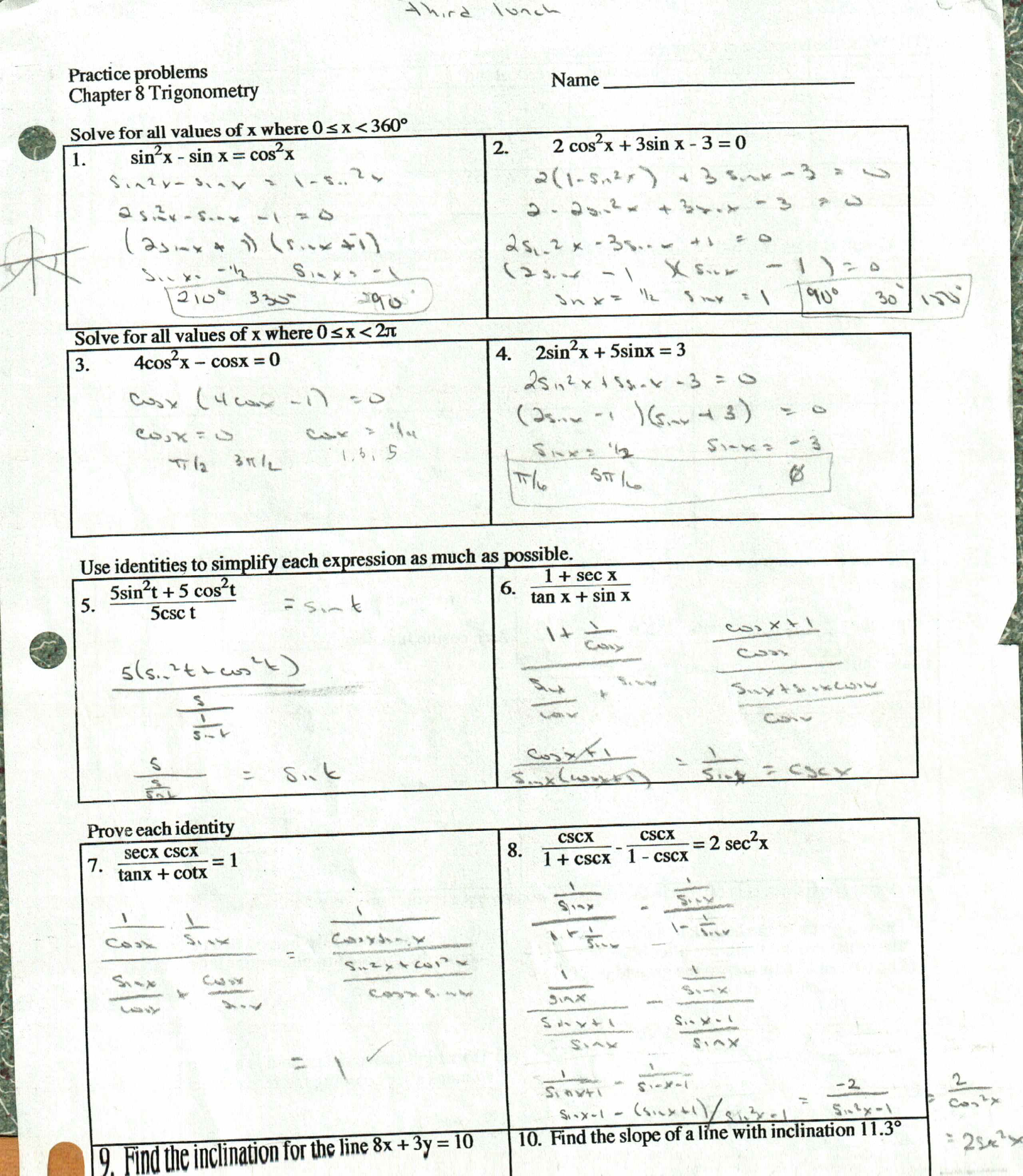 worksheet Verifying Trig Identities Worksheet trig identities worksheets free library download and ometric w ksheet ksheets libr ry
