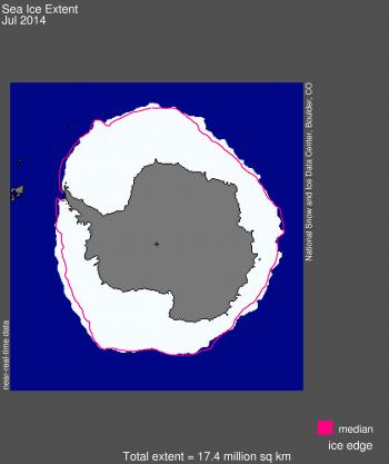 Antarctic sea ice map