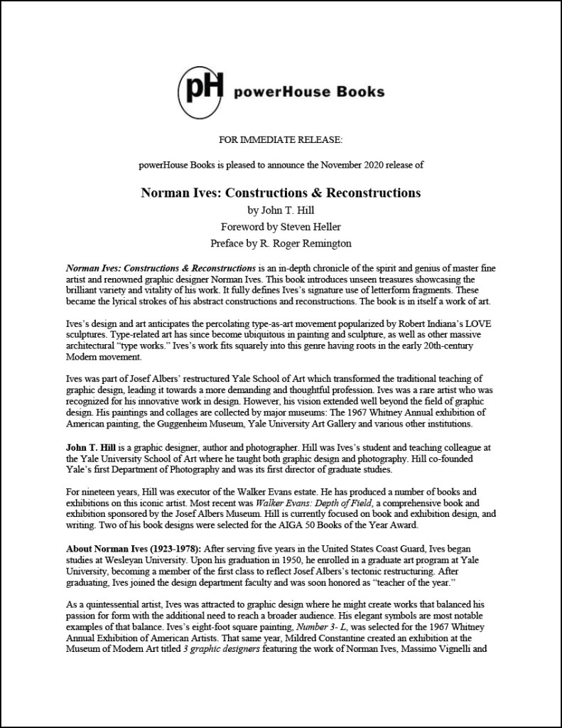 powerHouse Press Release
