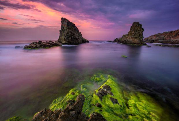 Sunset over the Shipwreck Rocks near Sinemoretz, Bulgaria