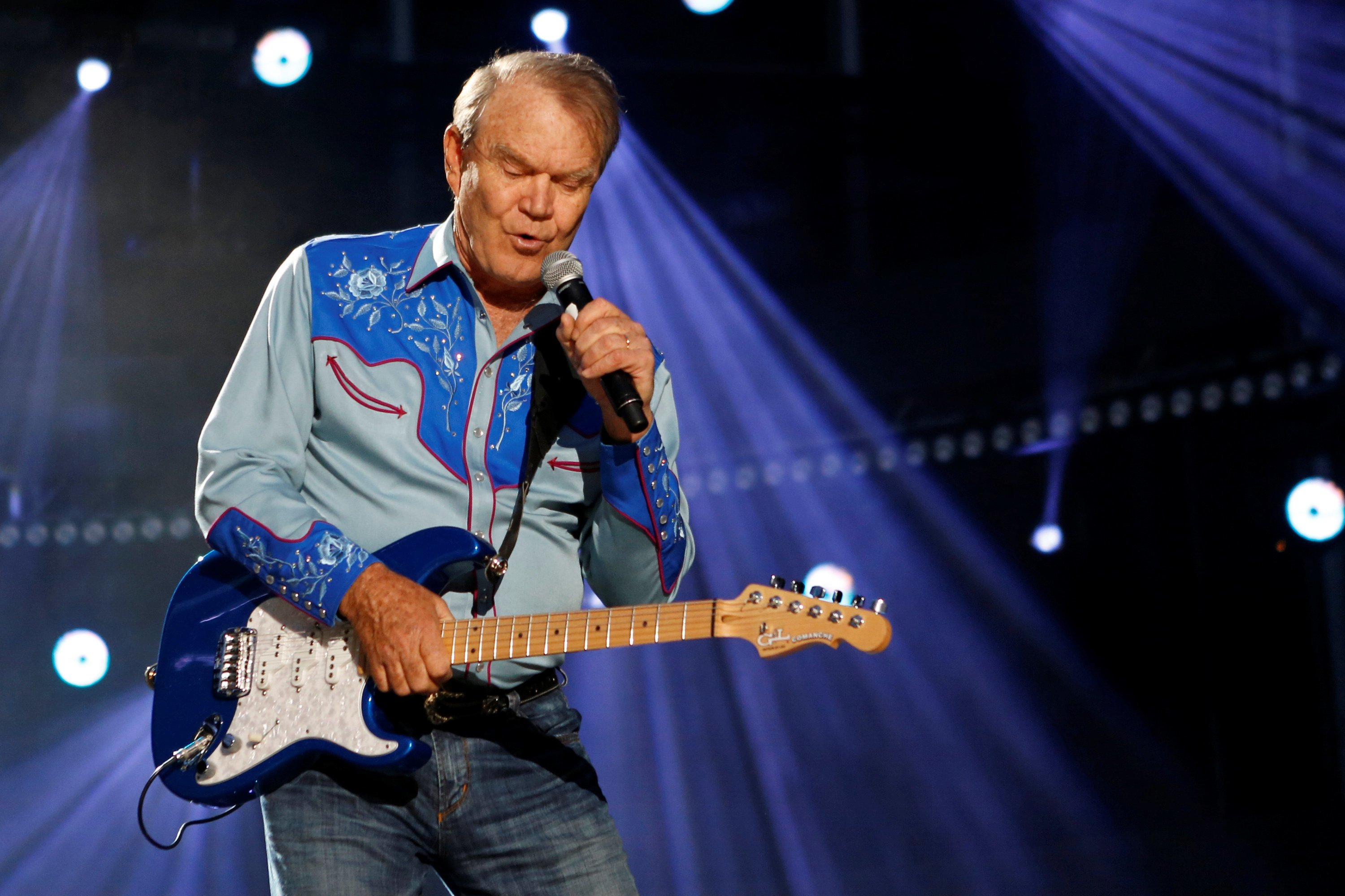 FILE PHOTO: Glen Campbell performs during CMA Music Festival in Nashville