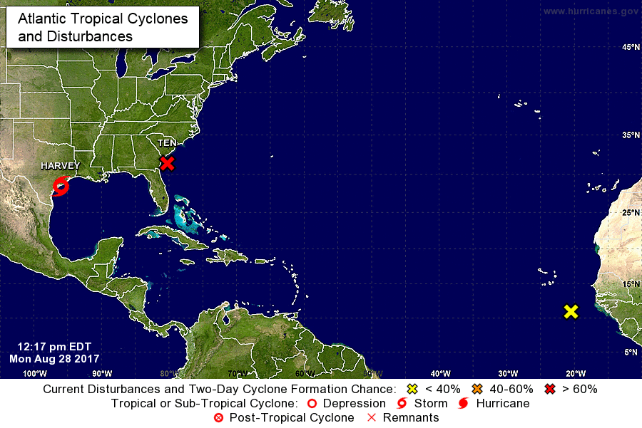 Tropical Storm Watch issued for NC, SC coast