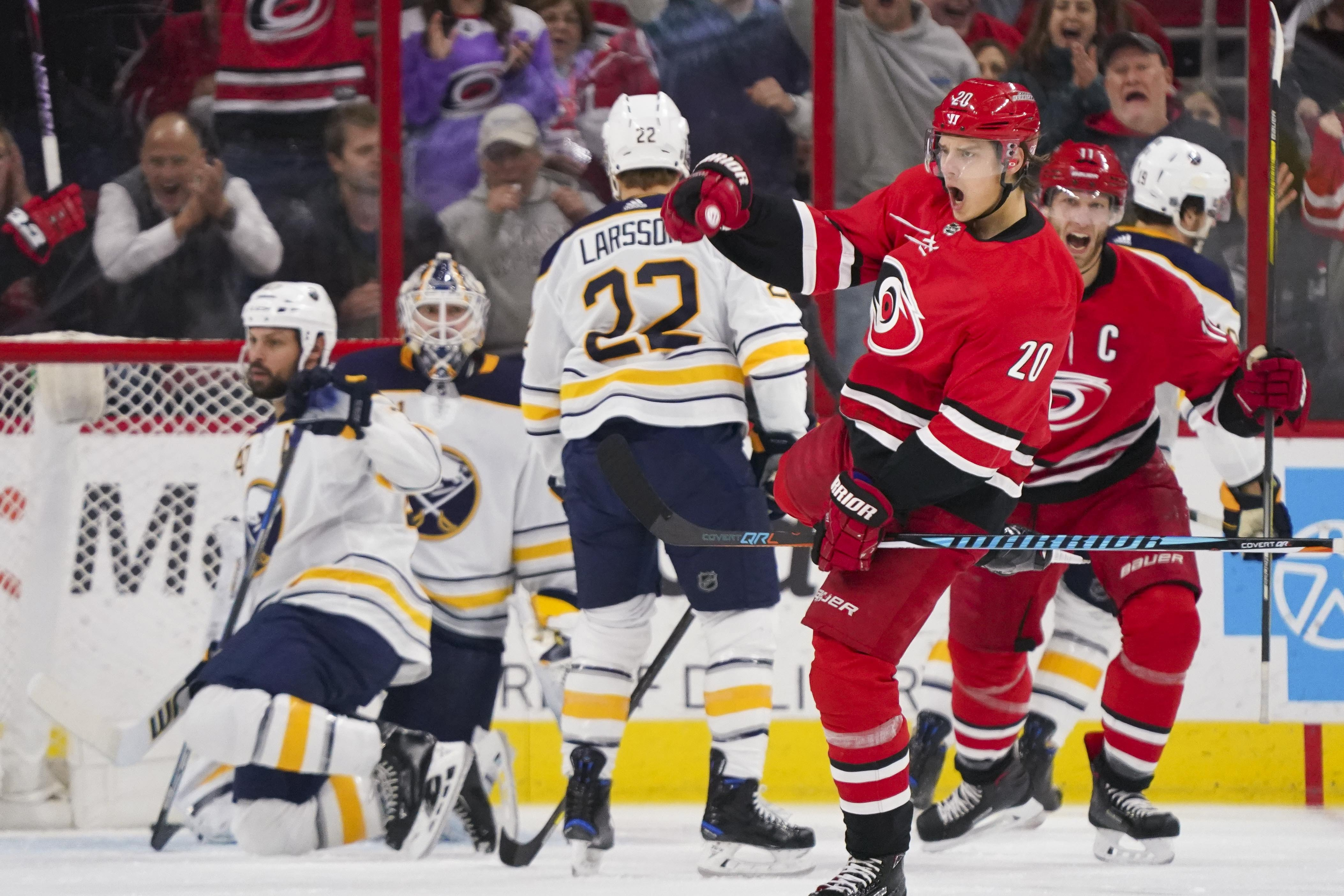 Sabres come up short against Hurricanes