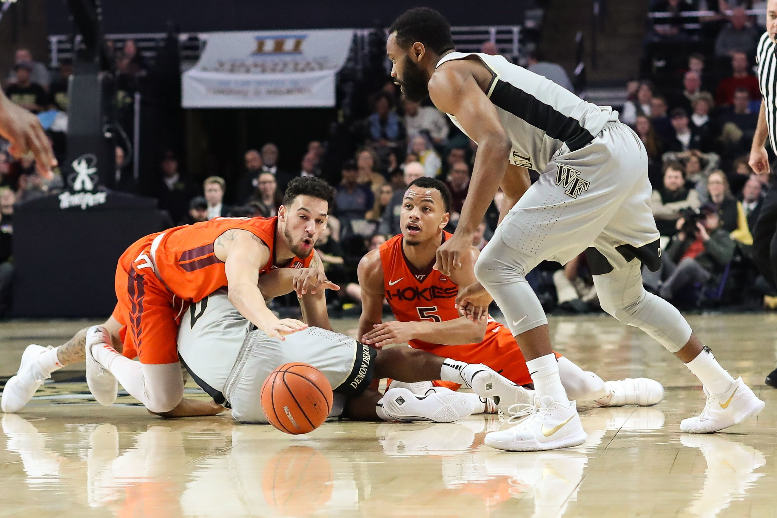 Virginia Tech beats Wake Forest 83-75 on road in ACC play