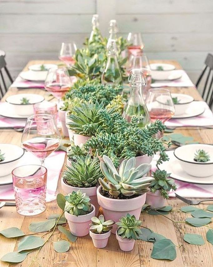 BECKI OWENS Mothers Day Tablescape with Succulents