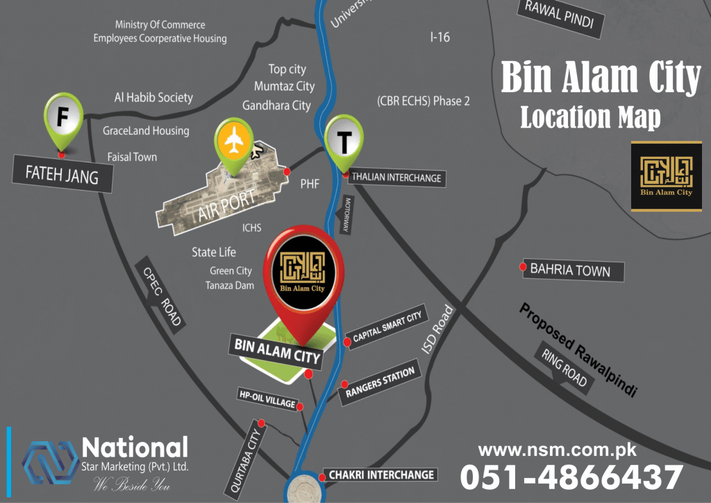 Bin Alam city location map