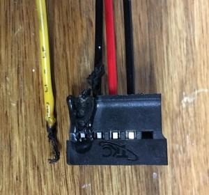 Failed SATA power connector