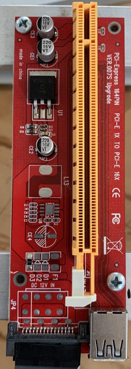 Linear Voltage Regulator Riser Card
