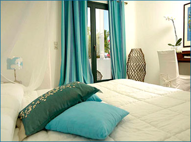 plan de sa chambre couleur turquoise
