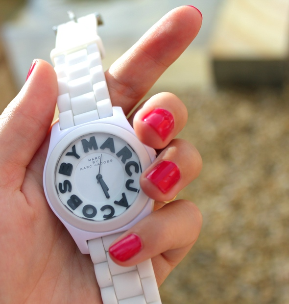montre marc by marc jacobs watch white blanche clock