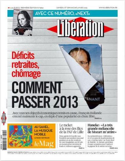 Libération Samedi 2 et dimanche 3 mars 2013