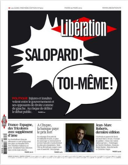 Libération Mardi 26 Mars 2013