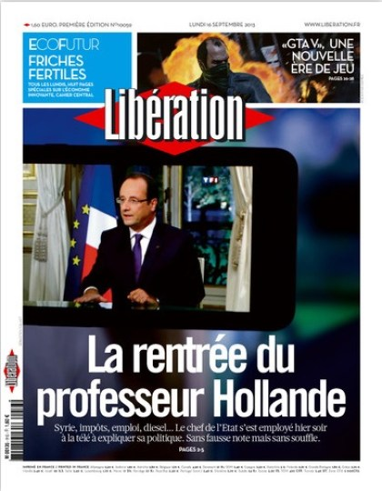 Liberation  Lundi 16 Septembre  2013