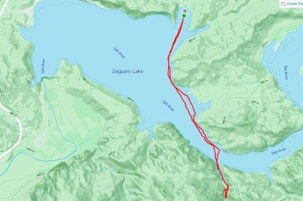 Saguaro Lake kayak track