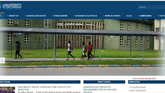 Have UNIPORT Started Giving Admission