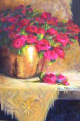 """""""Brass with Roses,"""" by Marian Dunn"""