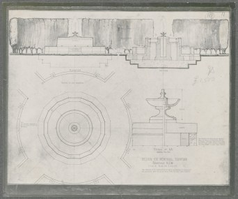 Design for Memorial Fountain Armidale. Digital ID NRS18195_0000016