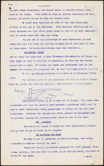 How Australians Fight: Changes in Military Training, by Colonel Chaplain James Green, 30 June 1915. From NRS 12060 [9-4706 letter 15-8387], p.4