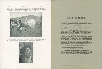 The Fighting Blood of 1809 promotional film flyer. From NRS 905 [5/7302 letter 14-49741, p.4]
