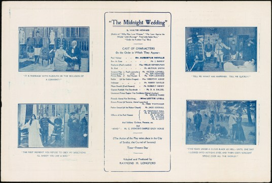 The Midnight Wedding promotional film flyer. From NRS 905 [5/8055 letter 19/44844, p.1].