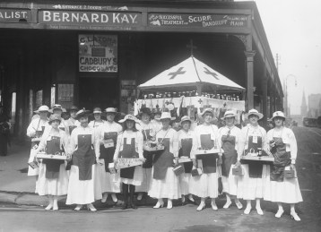 Red Cross stall, April 1918. From NRS 4481, image ST6216.