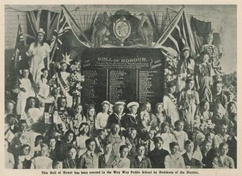 [Fig. 2] Roll of Honor, Woy Woy Public School. From AK698, Vol XI, No. 2, February 1917, p.35