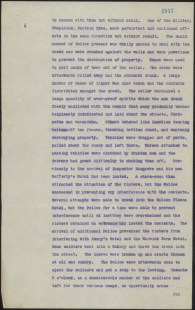 [Fig. 121] Police report on riotous conduct by soldiers at Sydney and Liverpool on Monday 14 February 1916. From NRS 905 [5/7437] letter 16/37445, p.2