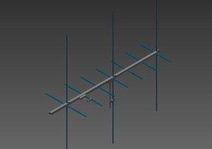 Arrow Yagi 3D Model