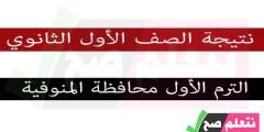 نتيجة الصف الأول الإعدادي الترم الأول محافظة المنوفية برقم الجلوس