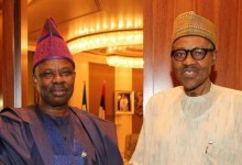 Photo of President Buhari Felicitates with Senator Amosun at 63.