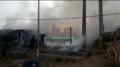 Photo of i- Witness Report: Fire guts Shops along Olorunsogo, Abeokuta on 15th November, 2020