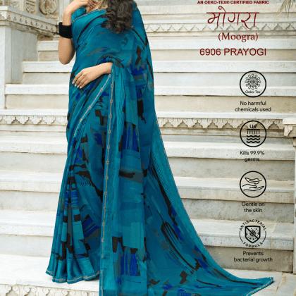 Prayogi Blue ntcfabs saree